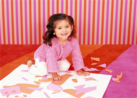 Little Girl Doing Crafts Stock Photo - Rights-Managed, Code: 700-01194579