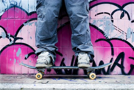 Person Standing on Skateboard Stock Photo - Rights-Managed, Code: 700-01196144