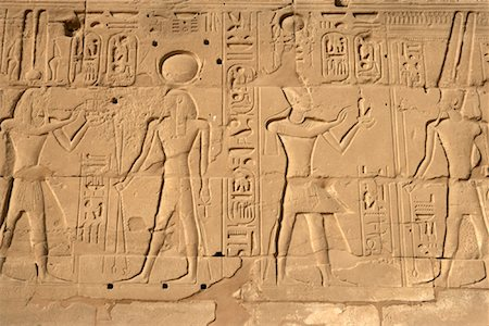 egyptian hieroglyphics - Detail of Temple of Amun at Karnak, Luxor, Egypt Stock Photo - Rights-Managed, Code: 700-01196260