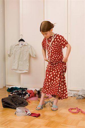 Girl Playing Dress-Up Stock Photo - Rights-Managed, Code: 700-01198902