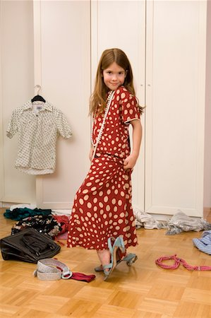 Girl Playing Dress-Up Stock Photo - Rights-Managed, Code: 700-01198903