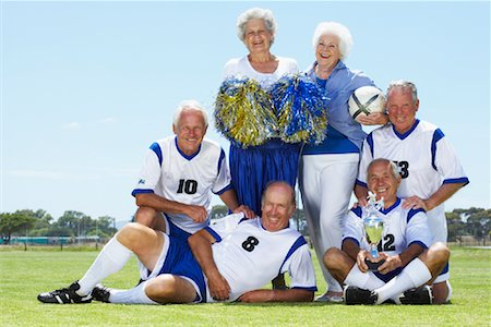 Portrait of Soccer Players and Cheerleaders Stock Photo - Rights-Managed, Code: 700-01199281