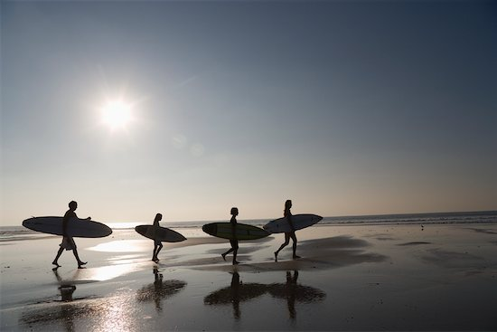 Family with Surfboards at Beach Stock Photo - Premium Rights-Managed, Artist: Tim Mantoani, Image code: 700-01199369