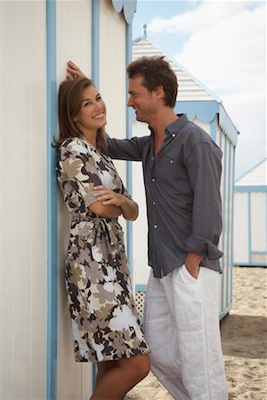 Couple at Beach Stock Photo - Rights-Managed, Code: 700-01200439