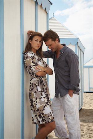 Couple at Beach Stock Photo - Rights-Managed, Code: 700-01200440