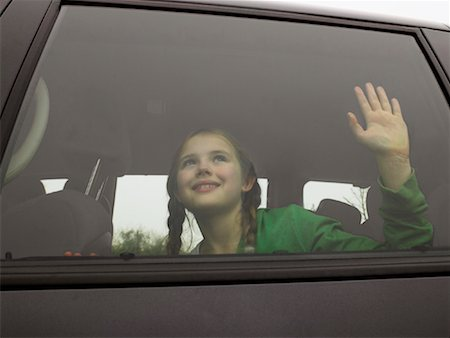 preteen  smile  one  alone - Girl in Car Stock Photo - Rights-Managed, Code: 700-01223432
