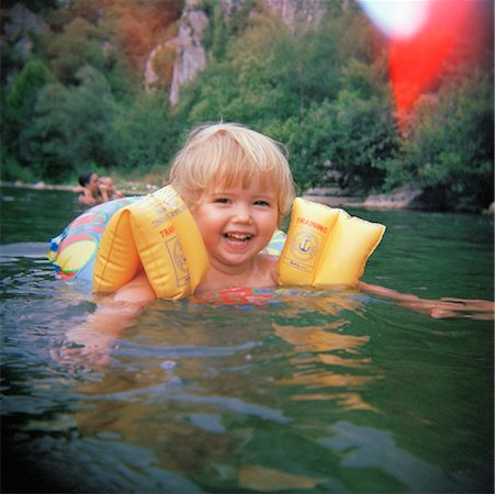 Girl Playing in River Stock Photo - Rights-Managed, Code: 700-01235136