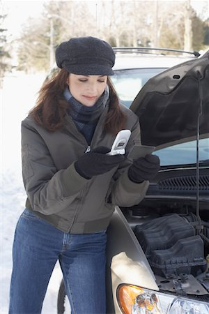 stalled car - Woman With Car Trouble Stock Photo - Rights-Managed, Code: 700-01235322