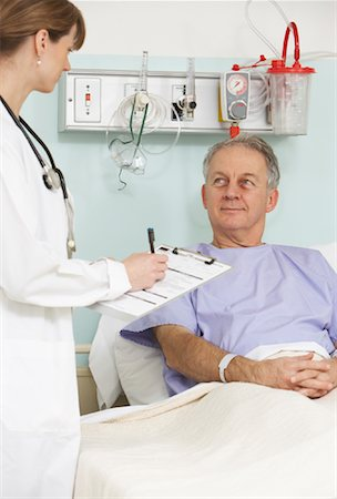 Doctor and Patient in Hospital Stock Photo - Rights-Managed, Code: 700-01236110