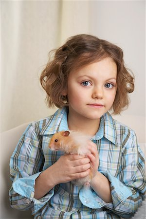 Portrait of Girl with Hamster Stock Photo - Rights-Managed, Code: 700-01236570