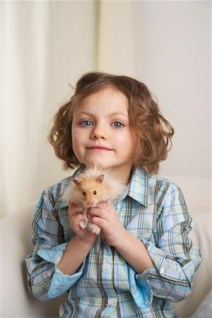 Portrait of Girl with Hamster Stock Photo - Rights-Managed, Code: 700-01236571