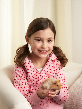 Portrait of Girl with Hamster Stock Photo - Rights-Managed, Code: 700-01236586