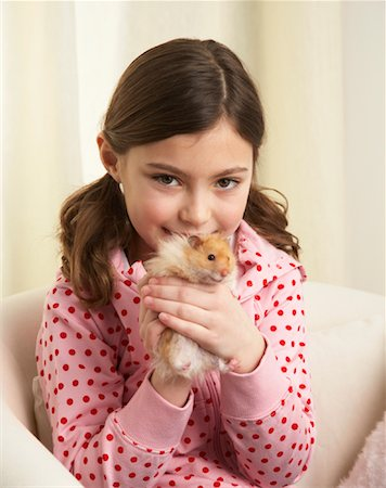 Portrait of Girl with Hamster Stock Photo - Rights-Managed, Code: 700-01236587