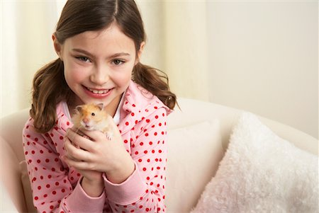 Portrait of Girl with Hamster Stock Photo - Rights-Managed, Code: 700-01236588