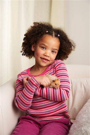Portrait of Girl with Hamster Stock Photo - Rights-Managed, Code: 700-01236581