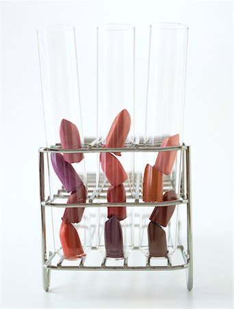 Lipstick in Test Tubes Stock Photo - Rights-Managed, Code: 700-01248006