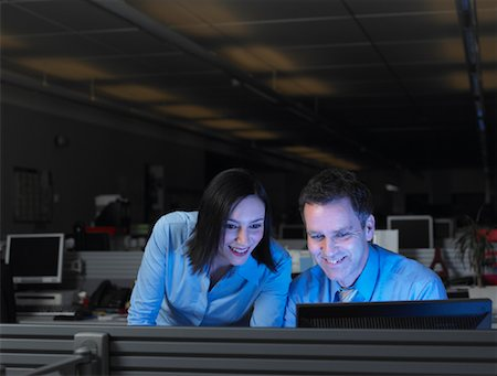 Businesspeople Working Late Stock Photo - Rights-Managed, Code: 700-01248155