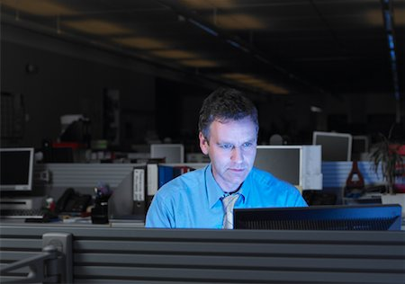 Businessman Working After Hours Stock Photo - Rights-Managed, Code: 700-01248151