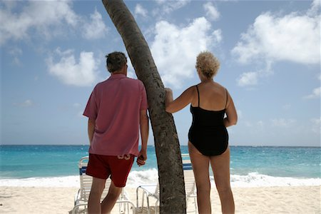 seniors woman in swimsuit - Couple on the Beach Stock Photo - Rights-Managed, Code: 700-01249065