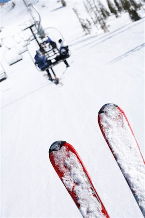 Skis on Ski Lift, Utah, USA Stock Photo - Rights-Managed, Code: 700-01260234