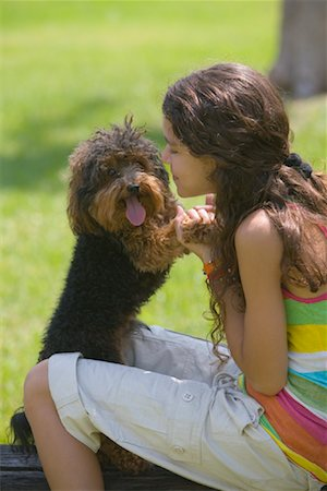 Girl with Dog Stock Photo - Rights-Managed, Code: 700-01275758