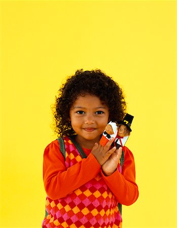 Girl With Thanksgiving Finger Puppets Stock Photo - Rights-Managed, Code: 700-01275941