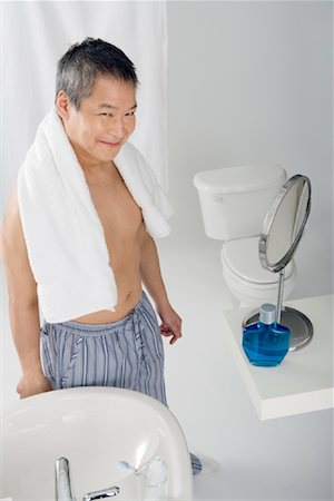 Portrait of Man in Bathroom Stock Photo - Rights-Managed, Code: 700-01276256