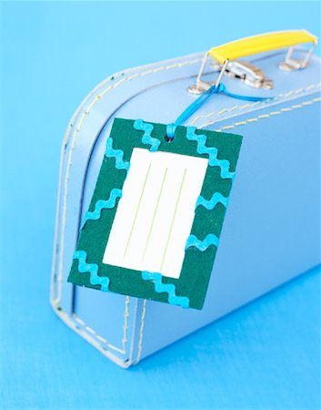 Suitcase with Address Label Stock Photo - Rights-Managed, Code: 700-01295907