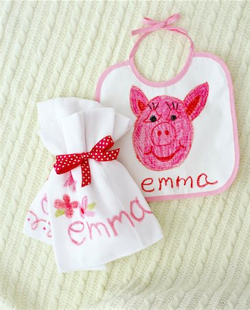 Child's Bib and Baggie Stock Photo - Rights-Managed, Code: 700-01295908