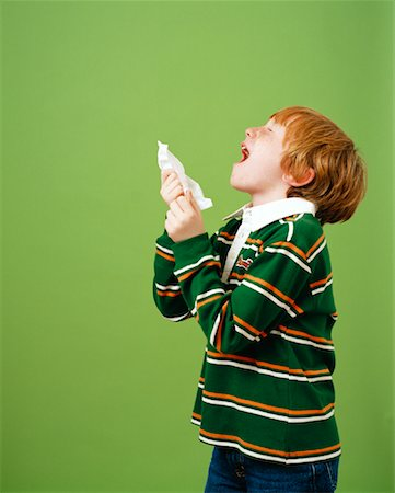 Boy Sneezing Stock Photo - Rights-Managed, Code: 700-01295915