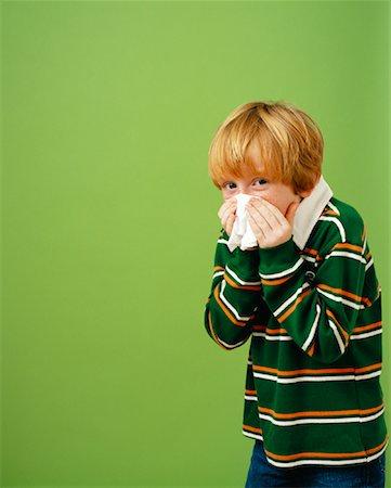 Boy Sneezing Stock Photo - Rights-Managed, Code: 700-01295916