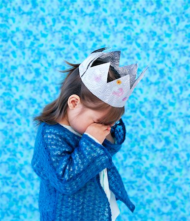 Girl Wearing Crown, Rubbing Eyes Stock Photo - Rights-Managed, Code: 700-01295919