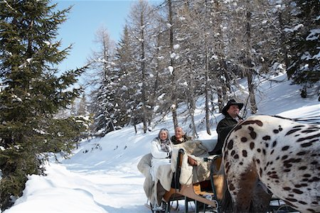 Couple on Sleigh Ride Stock Photo - Rights-Managed, Code: 700-01296145