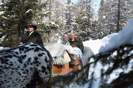 Couple on Sleigh Ride Stock Photo - Rights-Managed, Code: 700-01296143