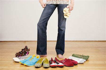 Woman with Shoes Stock Photo - Rights-Managed, Code: 700-01344535