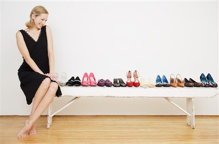 Woman with Shoes Stock Photo - Rights-Managed, Code: 700-01344544