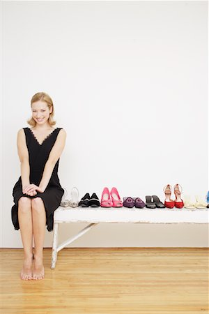 Woman with Shoes Stock Photo - Rights-Managed, Code: 700-01344545