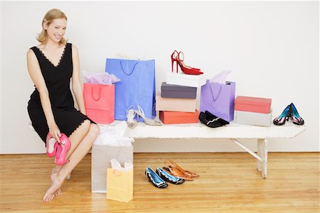 Woman with Shopping Bags Stock Photo - Rights-Managed, Code: 700-01344546