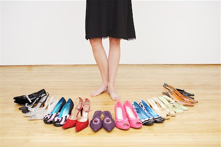 Woman with Shoes Stock Photo - Rights-Managed, Code: 700-01344553