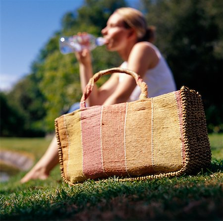 Woman Relaxing Outdoors Stock Photo - Rights-Managed, Code: 700-01345098