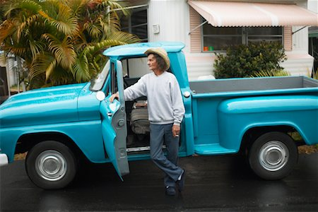 Portrait of Man with Truck Stock Photo - Rights-Managed, Code: 700-01429161