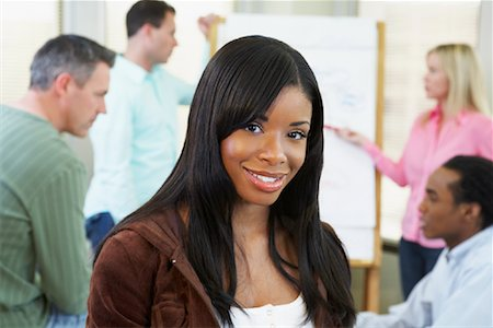 draw black women - Portrait of Businesswoman Stock Photo - Rights-Managed, Code: 700-01464549