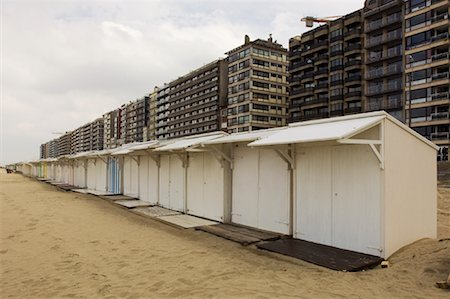 Beach Cottages and buildings, Blankenberge, Belgium Stock Photo - Rights-Managed, Code: 700-01463925
