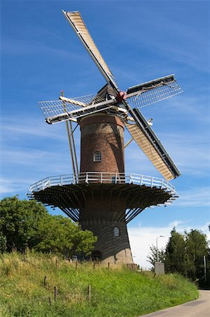 simsearch:600-00954324,k - Windmill, Zeeland, Netherlands Fotografie stock - Rights-Managed, Codice: 700-01463948