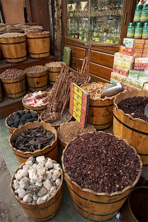 Spices, Khan Al-Khalili Bazaar, Cairo, Egypt Stock Photo - Rights-Managed, Code: 700-01538656