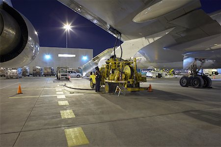 Fueling Cargo Plane, Toronto Pearson International Airport, Toronto, Ontario, Canada Stock Photo - Rights-Managed, Code: 700-01538720