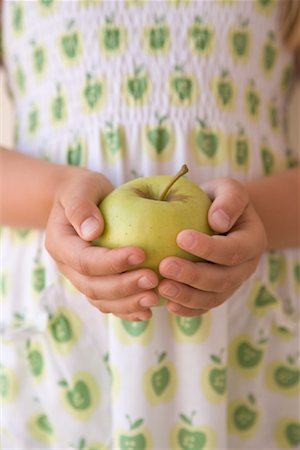 Child Holding Apple Stock Photo - Rights-Managed, Code: 700-01538789