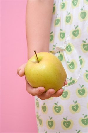 Child Holding Apple Stock Photo - Rights-Managed, Code: 700-01538781