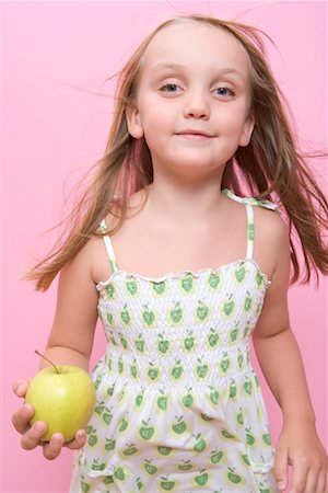 Child Holding Apple Stock Photo - Rights-Managed, Code: 700-01538782
