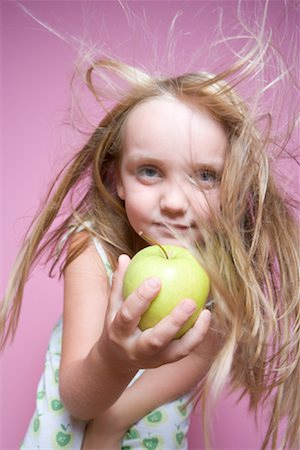 Child Holding Apple Stock Photo - Rights-Managed, Code: 700-01538783